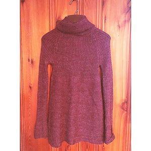 Bershka Grape Turtle neck Sweater/Tunic Sz Md